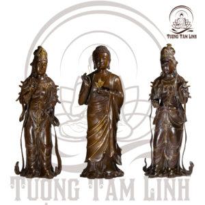 Tượng Đồng Dược Sư Nhật Quang Và Nguyệt Quang